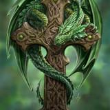 Tablou Canvas dragon Gardianul pădurii