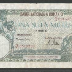 ROMANIA 100000 100.000 LEI 20 DECEMBRIE 1946 [30] VF - Bancnota romaneasca