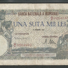 ROMANIA 100000 100.000 LEI 20 DECEMBRIE 1946 [37] F - Bancnota romaneasca