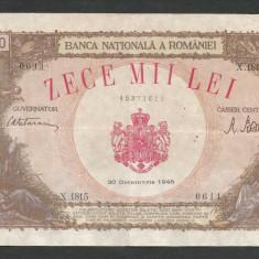 ROMANIA  10000  10.000  LEI   20  DECEMBRIE   1945  [23]  VF+