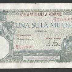 ROMANIA 100000 100.000 LEI 20 DECEMBRIE 1946 [20] VF+ - Bancnota romaneasca