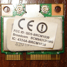Placa retea wireless laptop DualBand WIFI Broadcom BCM94312HMG 2, 4GHZ 5GHZ