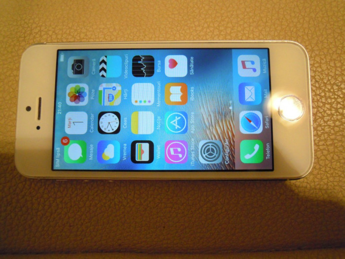 Iphone 5s 16gb alb foto mare