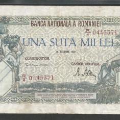 ROMANIA 100000 100.000 LEI 20 DECEMBRIE 1946 [31] VF - Bancnota romaneasca