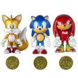 Sonic Boom, Set 3 minifigurine cu monede 8 cm - Figurina Desene animate