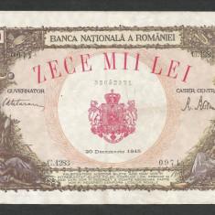 ROMANIA 10000 10.000 LEI 20 DECEMBRIE 1945 [33] starea din imagine - Bancnota romaneasca