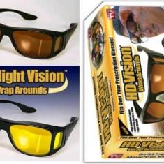 Set 2 Ochelari HD Vision cu protectie UV, Unisex, Galben, Pilot, Plastic, Protectie UV 100%