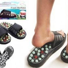 Papuci masaj + reflexoterapie Foot Reflex LANAFARM - Echipament de masaj