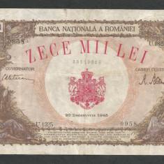 ROMANIA  10000  10.000  LEI   20  DECEMBRIE   1945  [26]   VF