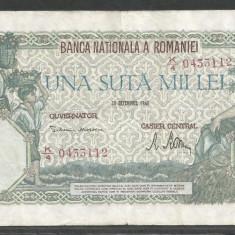 ROMANIA 100000 100.000 LEI 20 DECEMBRIE 1946 [27] VF - Bancnota romaneasca