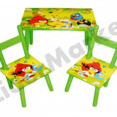 Masuta si scaune pentru copii - imprimeu Angry Birds - Masuta/scaun copii