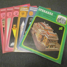 PAPER MODELS & KITS - LOT X 6 PAPER MODEL CLADIRI - ORIGINALE - RARE !!!! - Macheta Navala Matchbox, 1:72