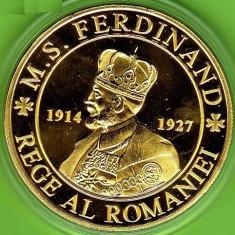 Medalie Comemorativa Medalie Regele Ferdinand Medalie Regina Maria - Medalii Romania