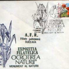 Romania - Plic oc.1989 - Ocrotirea Naturii Suceava - Iris, crin portocaliu