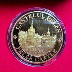 Medalie Comemorativa Medalie Castelul Peles Medalie Castelul Pelisor - Medalii Romania