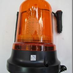 Girofar cu magnet 51066 cu 120 LED Portocaliu 12V sau 24V, Universal