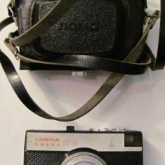 PVM - Aparat foto film SMENA 8 M functional cu husa fabricat URSS Rusia - Aparat de Colectie