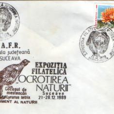Romania - Plic oc.1989 - Ocrotirea Naturii Suceava - crepis aurea