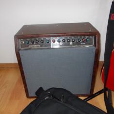 Chitara electrica cu stativ, husa, statie si procesor