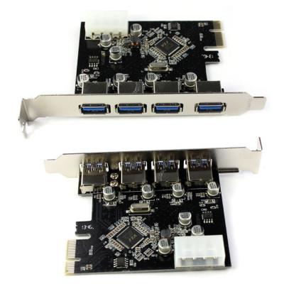 Placa 4-Port USB 3.0 la PCI-E 1x foto
