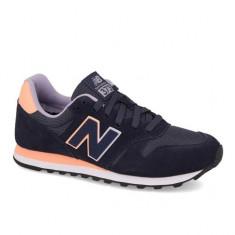 Pantofi New Balance 373 Navy pentru femei din piele (NBAWL373GN) - Adidasi dama New Balance, Culoare: Bleumarin, Marime: 36