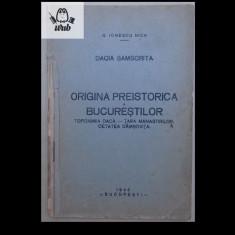 G Ionescu Nica Dacia samscrita. Originea preistorica a Bucurestilor 1946