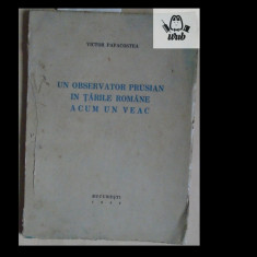 V Papacostea Un observator prusian in Tarile Romane acum un veac 1942 97 pag - Istorie