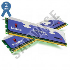 KIT Memorie 2 x 2GB Kingston DDR3 1333MHz HyperX CL9.............GARANTIE 2 ANI! - Memorie RAM Kingston, 4 GB, Dual channel