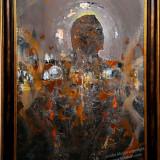 PICTURA KLOSKA DESPRE INGERI ENERGIE UNIVERS ONIRIC - Pictor roman, Ovidiu Kloska, An: 2014, Religie, Acrilic, Abstract