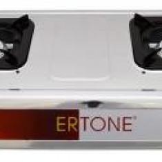 Aragaz din inox cu 2 arzatoare Ertone