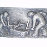 Bazorelief, basorelief - Metal/Fonta