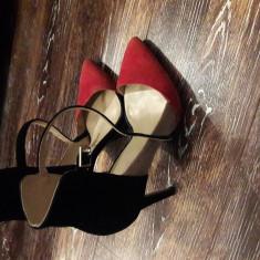 Pantofi Zara Piele interior exterior marinea 38 - Pantof dama Zara, Culoare: Alta