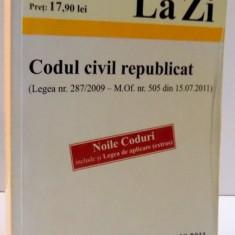 CODUL CIVIL REPUBLICAT, 2011