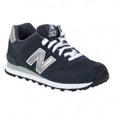Pantofi New Balance 574 Navy pentru barbati din piele (NBAM574NN) - Adidasi barbati New Balance, Marime: 44, 45, Culoare: Bleumarin