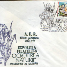 Romania - Plic oc.1989 - Ocrotirea Naturii Suceava -Deditzel, iris