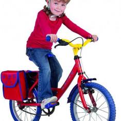 Geanta portbagaj pentru bicicleta copii, 22, 5x10x24cm, rosu/albastru - Accesoriu Bicicleta