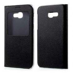 Husa Flip Cu Fereastra Samsung Galaxy A5 (2017) Neagra - Husa Telefon