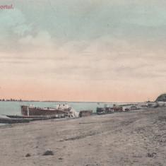 CERNAVODA PORTUL CIRCULATA 1910 - Carte Postala Dobrogea 1904-1918, Printata
