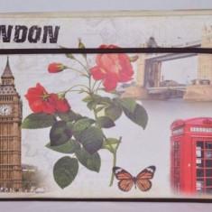 Taburet pliabil mare Londra - cutie de depozitare