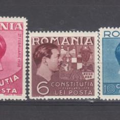 Romania 1938 Constitutia - Timbre Romania, Sarbatori, Nestampilat