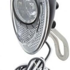Far clasic Anlun, pentru dinam, 1led Cree 14 Lux, intrerupator, cablu si suport - Accesoriu Bicicleta