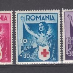 Romania 1941 Crucea rosia serie MNH