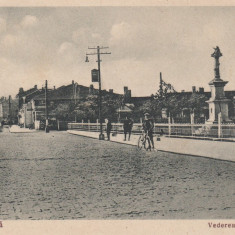 CERNAVODA VEDEREA ORASULUI CIRCULATA 1934 EDDITURA I. RADU, CERNAVODA - Carte Postala Dobrogea dupa 1918, Printata