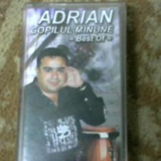 CASETA AUDIO MANELE ADRIAN COPILU MINUNE,, BEST OFF,, ORIGINALA - Muzica Lautareasca Altele, Casete audio