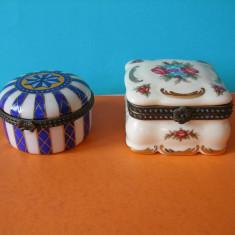LOT DE DOUA CASETE DIN PORTELAN - Cutie Bijuterii
