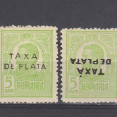Romania 1918 Carol i supratipar Taxa de plata 1 rasturnat - Timbre Romania, Regi, Nestampilat