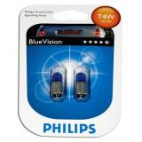 Bec Philips 12929BVB2 T4W BlueVision 12V (set 2 becuri)