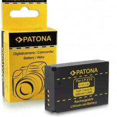 Acumulator pt. Canon LPE12, LPE-12, EOS M cu Infochip,  marca Patona,