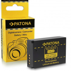 Acumulator pt. Canon LPE12, LPE-12, EOS M cu Infochip, marca Patona, - Baterie Camera Video