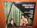 -Y- BRAHMS / SCHUMANN - CORNELIA BRONZETTI / GABRIEL AMIRAS  DISC VINIL LP